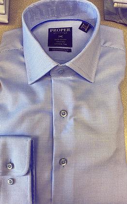 Proper - light blue texture all cotton wrinkle free