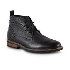 Ozark Black Tumbled Leather