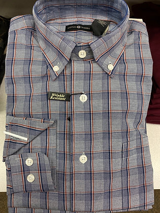 Navy and rust Glenn Plaid - Wrinkle Free All Cotton