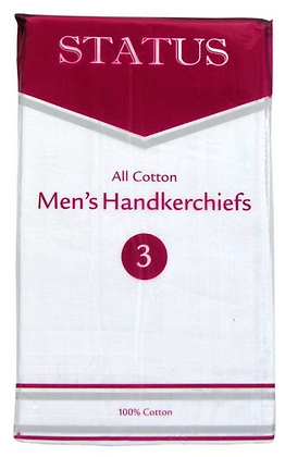 3 Pack of All Cotton Hankerchiefs