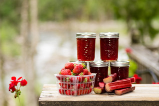 Naturally Sweetened Rhubarb Jam