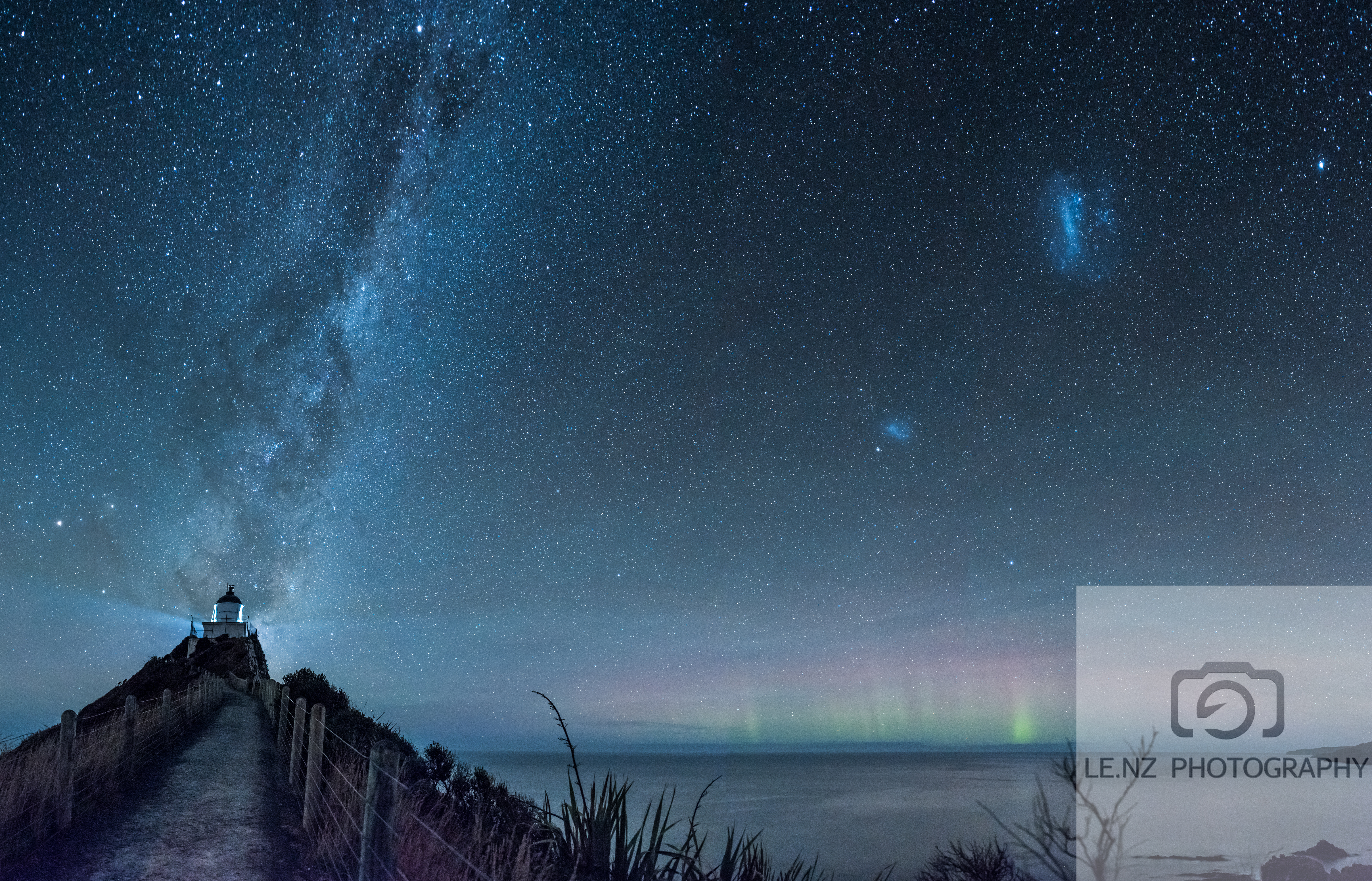 Nugget Point with the Aurora NZ