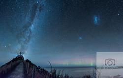 Nugget Point with the Aurora NZ