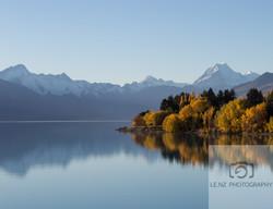 Pukaki Lake  Mt Sefton/Cook NZ