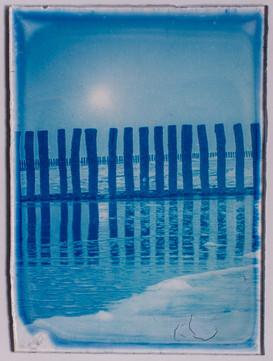 Blauwdruk op Glas