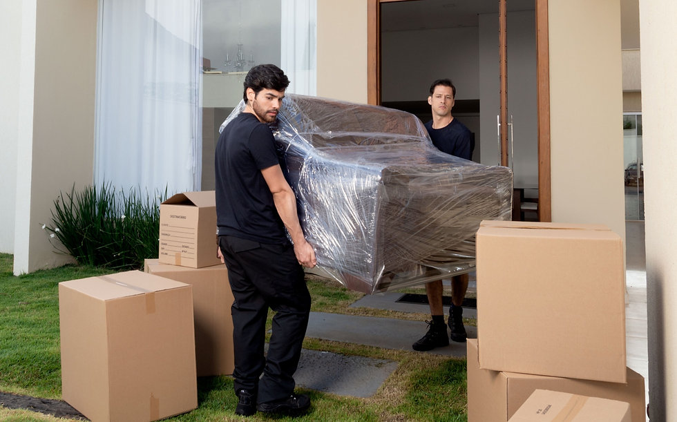 removals men with a sofa