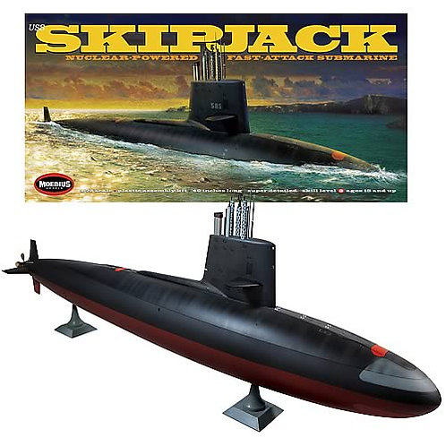 Moebius - Nuclear-Powered Fast-Attack Submarine USS Skipjack SSN 585 1/72