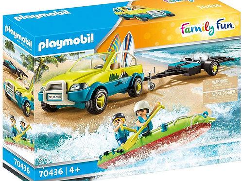 Playmobil 70436 Family Fun - Beach Car with Canoe Trailer