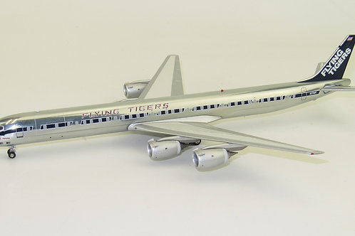 Inflight 200 - Douglas DC8-73CF Flying Tigers N773FT Polished with Stand
