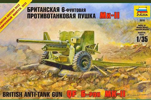 Zvezda - British Anti-Tank Gun QF 6-PDR Mk.II 1/35