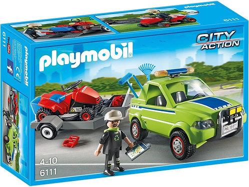 Playmobil 6111 City Action - Landscaper with Lawn Mower