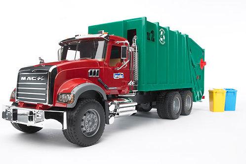 Bruder 02812 - Mack Granite Rear Loading Garbage Truck