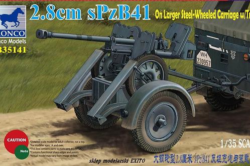 Bronco - 2.8cm sPzB41 on Larger Steel-Wheeled Car