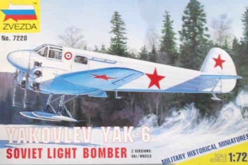 Zvezda - Yakovlev YAK-6 Soviet Light Bomber 1/72