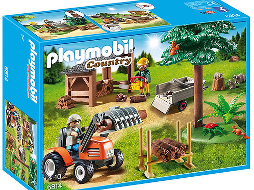 Playmobil 6814 Country - Lumberjack with Tractor