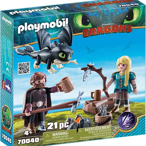 Playmobil 70040 Dragons - Hicks and Astrid with Baby Dragon