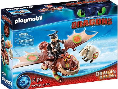 Playmobil 70729 Dragons - Dragon Racing: Fishbone and Meat Tenderiser
