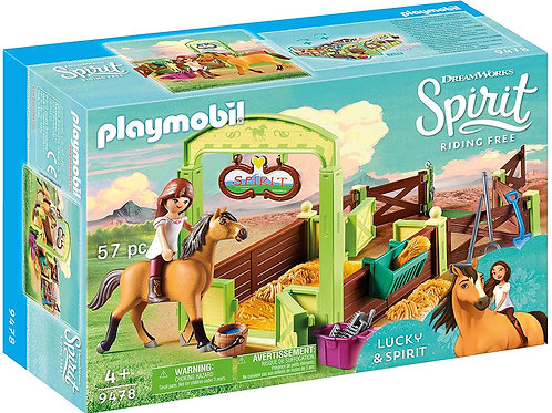 Playmobil 9478 Spirit - Lucky and Spirit with Horse Stall