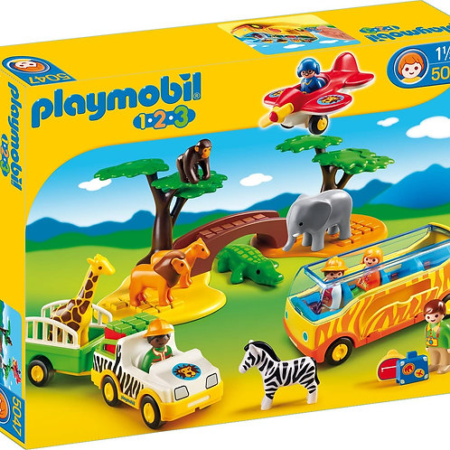 Playmobil 5047 1.2.3 - Savannah Animals with Warden and Tourists