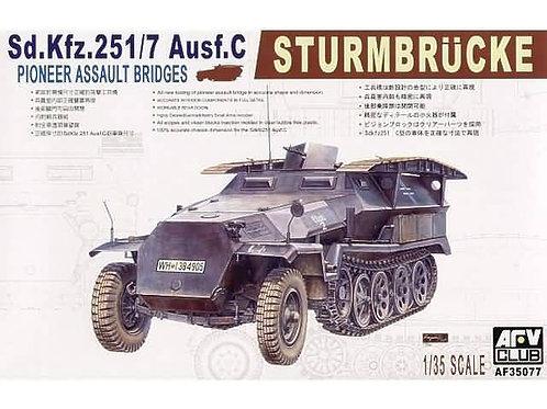 AFV Club - Sd.Kfz.251/7 Ausf. C Sturmbrücke Pioneer Assault Bridges 1/35