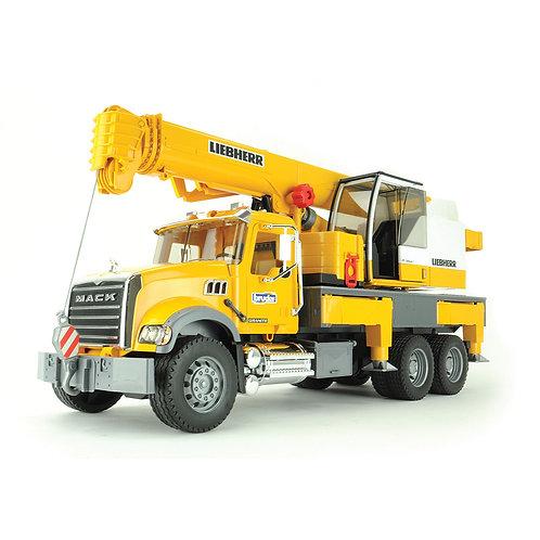 Bruder 02818 - MACK Granite Leibherr Crane Truck 1/16
