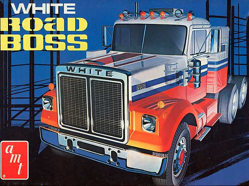 AMT - White Road Boss Truck 1/25