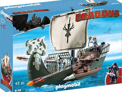 Playmobil 9244 Dragons - Floating Drago's Ship with Firing Cannons