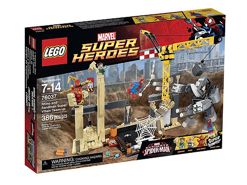 Lego 76037 Super Heroes - Rhino And Sandman Super Villain Team-up
