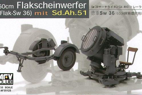 AFV Club - 60cm Flakscheinwerfer (Flak-Sw 36) 1/35
