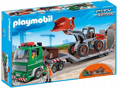 Playmobil 5026 City Action - Low Loader with Wheel Loader