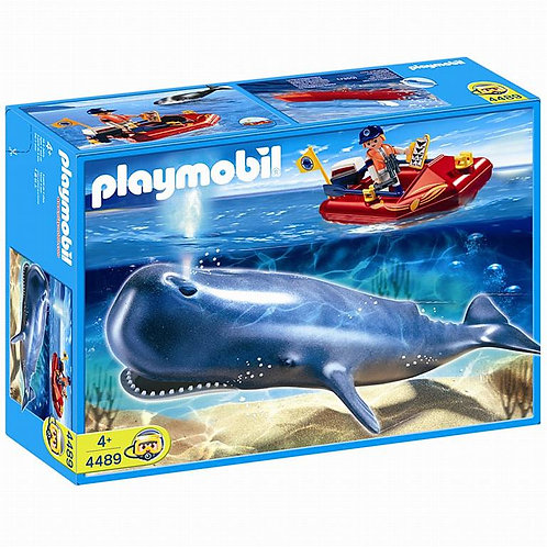 Playmobil 4489 - Researcher On Boat And Whale