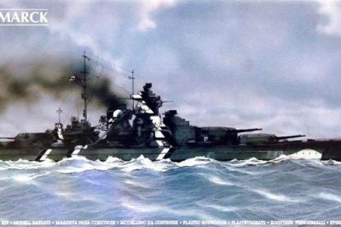 Heller - German Battleship Bismarck 1/400