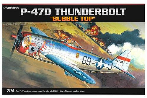 Academy - P-47D Thunderbolt Bubbletop 1/72