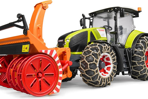 Bruder 03017 - Claas Axion 950 with Snow Blower and Snow Chains 1/16