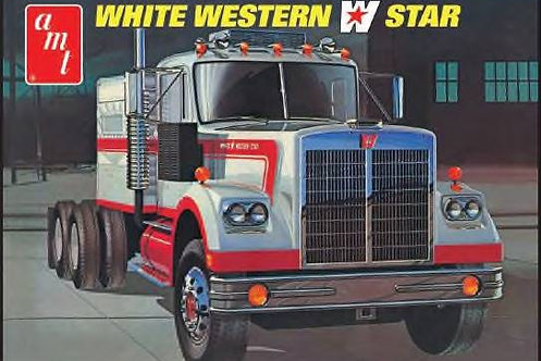 AMT - White Western Star Semi-Tractor 1/25