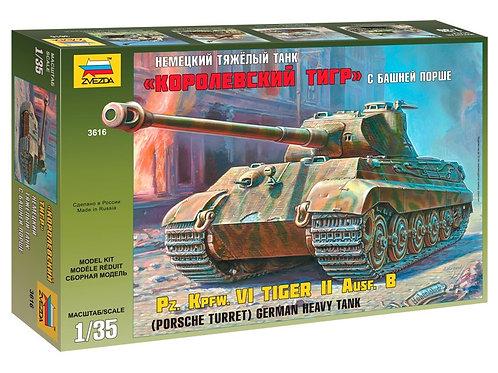 Zvezda - King Tiger Sd.Kfz.182 Porsche Turret 1/35