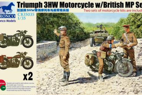 Bronco - Triumph 3HW Motorcycle with MP Figure Set