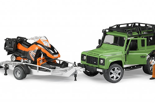 Bruder 02594 - Land Rover Defender with Trailer & Snowmob 1/16