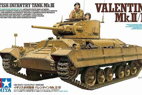Tamiya - British Infantry Tank Mk.III Valentine Mk.II/IV 1/35