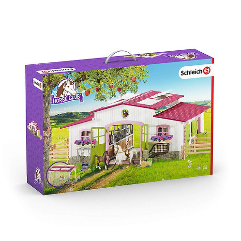 Schleich 42334 - Barn With Animals And Accessories