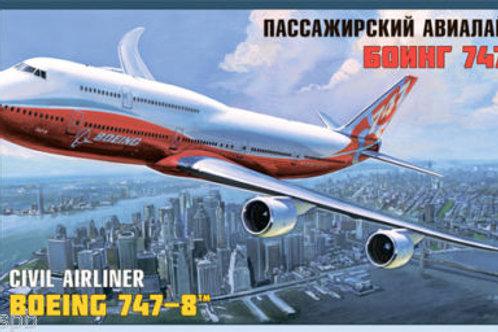 Zvezda - Civil Airliner Boeing 747-8 1/144