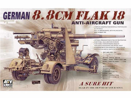AFV Club - 88mm Gun Flak 18 Anti-Aircraft Gun 1/35