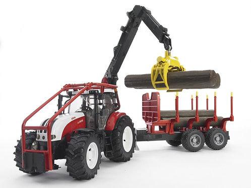 Bruder 03093 - Steyr CVT 6230 Forestry Tractor 1/16