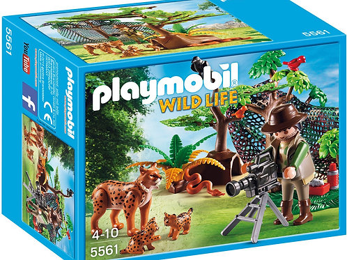 Playmobil 5561 Wild Life - Adventure Tree House Lynx Family with Cameraman