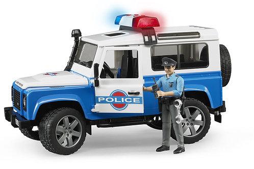 Bruder 02595 - Land Rover Defender Police Vehicle w. Policeman 1/16