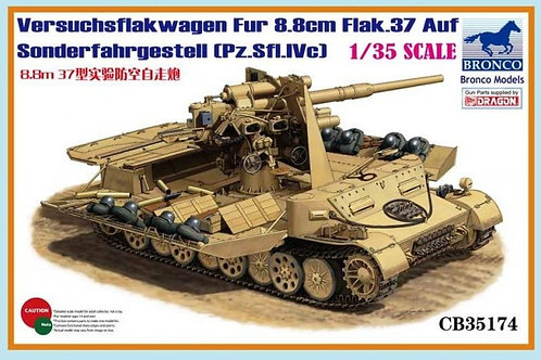 Bronco - Versuchsflakwagen für Flak 37 1/35