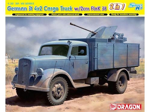 Dragon - German 3T 4x2 Truck with 2cm Flak 38 1/35