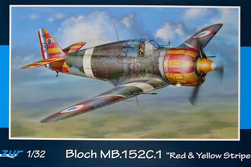 Azur - Bloch MB. 152C.1 Red & Yellow Stripes 1/32