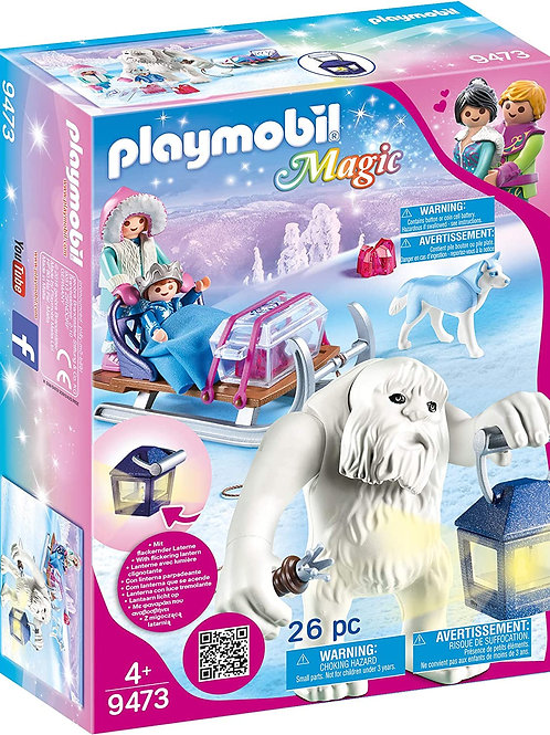 Playmobil 9473 Magic - Yeti with Sleigh and Light Effect