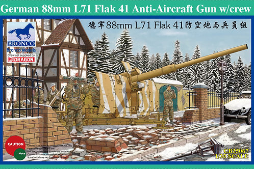Bronco - German 88mm L71 Flak 41 AA Gun w/ Crew